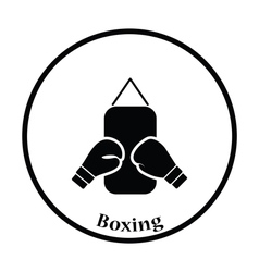 Icon of Boxing pear and gloves vector image vector image
