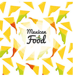 mexican food cuisine seamless pattern vector image
