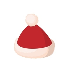 Santa cap icon cartoon style vector image vector image