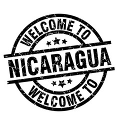 welcome to nicaragua black stamp vector image vector image