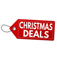 christmas deals label or price tag vector image