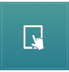 Click on the screen tablet vector