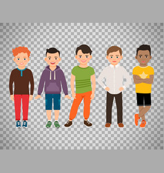 cute little boys on transparent background vector image