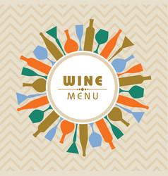 For wine shop menu stock vector