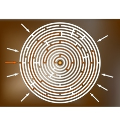 Reaching the goal in labyrinth brown vector image vector image
