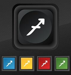 Sagittarius icon symbol Set of five colorful vector image