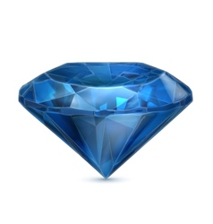 Sapphire blue icon vector image vector image