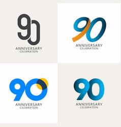 90 years anniversary celebration compilation logo vector