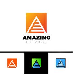 abstract letter a logo design template arrow vector image