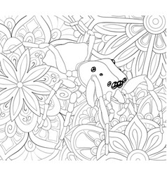 Adult coloring bookpage a cute spider vector