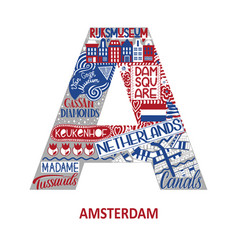 Amsterdam abstract sight map vector