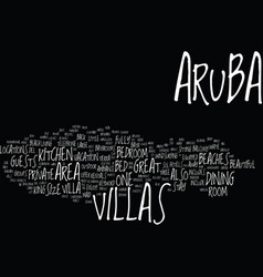 Aruba villas text background word cloud concept vector