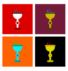 Assembly flat icons cup potion vector