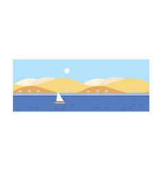 beautiful summer landscape seascape beach vector image