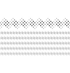 Black and white repeating dotted pattern page vector