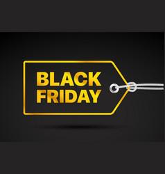 black friday golden label black friday sale tag vector image