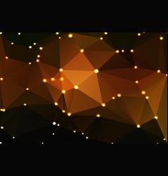 Black orange yellow geometric background with vector