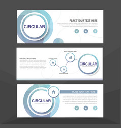 Blue circle corporate business banner template vector