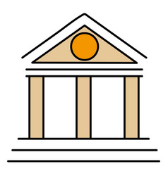 building with columns icon vector image