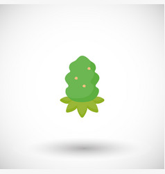 Cannabis bud flat icon vector