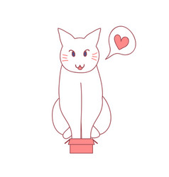 cat love box every size vector image