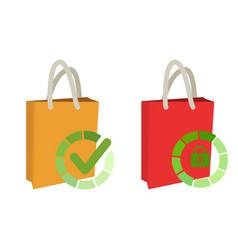 check shopping bag icon idea for web applications vector image