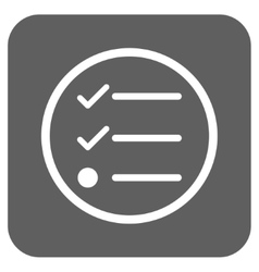 Checklist Flat Squared Icon vector