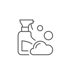 cleaning agent line outline icon vector image