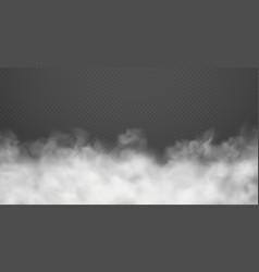 cloud smoke or fog road dust urban smog white vector image
