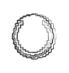 Coin pixelated videogame vector