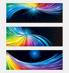 colorful banner background vector image