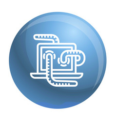computer worm icon outline style vector image