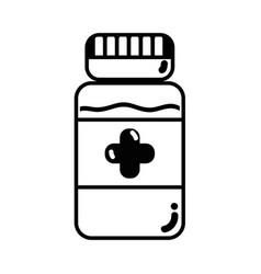 Contour bottle pills treatment and healthy vector