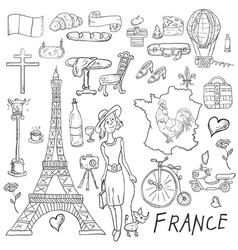 contour coloring travel to the country of europe vector image