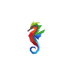 creative colorful seahorse logo design symbol vector image