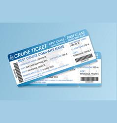 cruise boarding pass design template ferry boat vector image