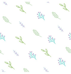 Cute branches seamless pattern vector