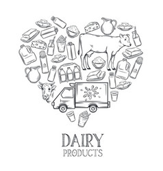 dairy product banner vector image