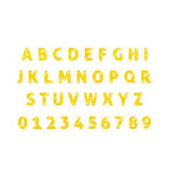 Diamond alphabet font isolated vector
