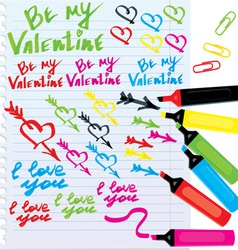 different colors markers vector image