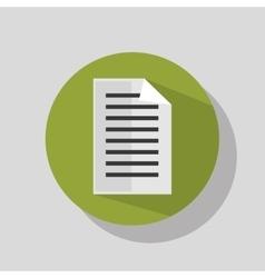 Document paper sheet vector