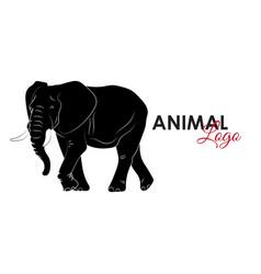 elephant icon logo symbol vector image