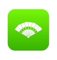 fan icon digital green vector image