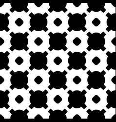 Geometric pattern with circles crosses vector