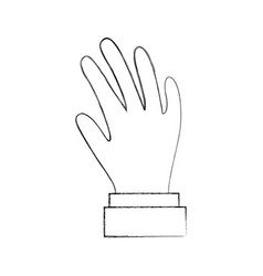 hand human isolated icon vector image