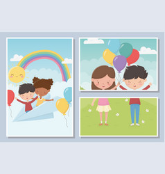 happy childrens day celebration international vector image
