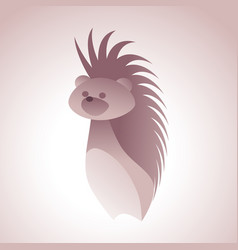 hedgehog logo stylized simplified and isolated vector image