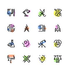 Icon set of creativity vector