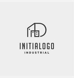 Initial letter d real estate logo design vector