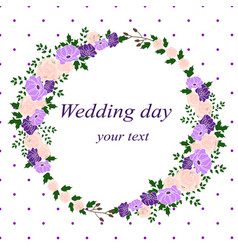 Invitation card with flower frame wedding vector